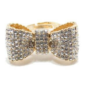 Luxe Bow Pave Ring